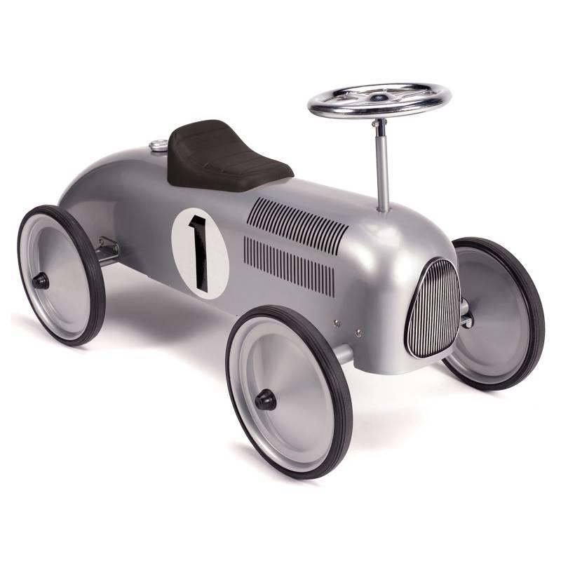 Schylling - Auto de Carrera Retro Plateado