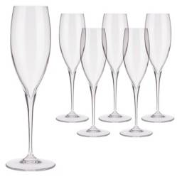 Bormioli - Set 6 Copas Champagne Premium Cristal Glass