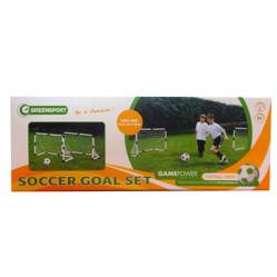 Game Power - Set de 2 Arcos de Fútbol de Plástico Gamepower