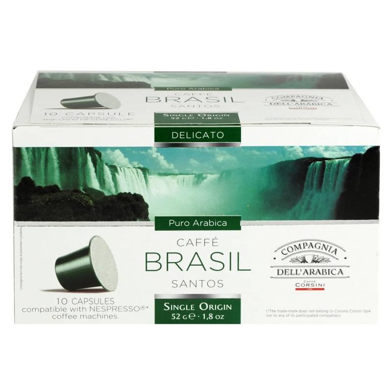 Compagnia - Cápsulas de Café Brasil 10 Unidades 5 g