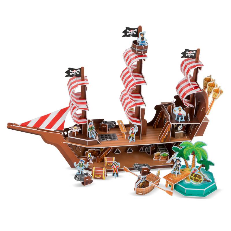 Melissa  Doug - Puzzle 3D Barco Pirata