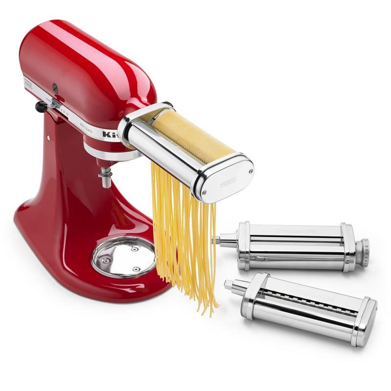 Kitchenaid - Aditamento Set de Pasta 3 Piezas Rodillo Cortador, Fettuccine y Spaghetti