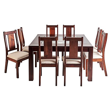 Magasa juego de comedor sisal 8 sillas for Precios de comedores en vidrio