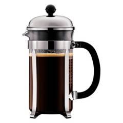 BODUM - Cafetera Chamboard 1,0 lt Plata Shinny