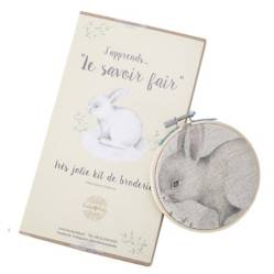 Kit de Bordado Ilustración Conejo