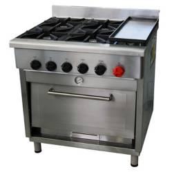 Cocina 4 Quemadores 6EA50 Gas Licuado