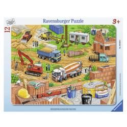 """Puzzle Infantil 12 piezas """"Zona de la Construcción"""""""