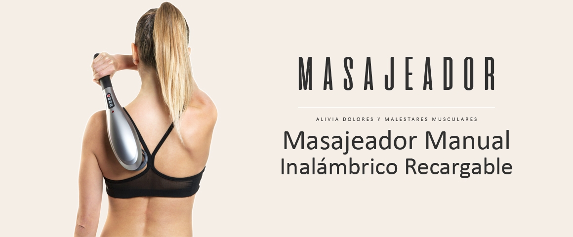 Masajeador Manual Inalámbrico Recargable