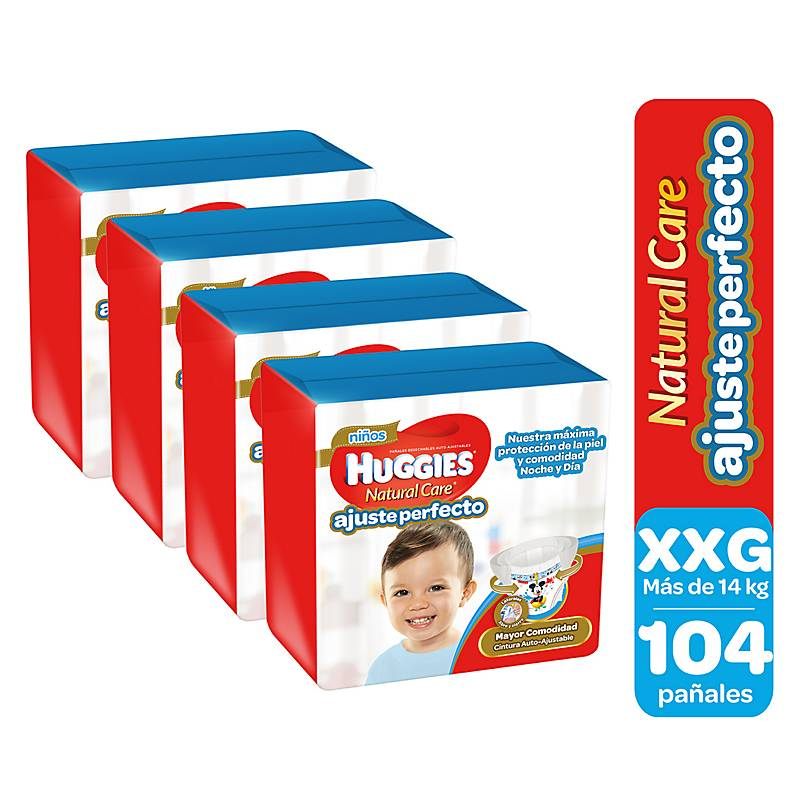 d9e3265e1 Huggies Pack 104 Pants Niño XL Natural Care - Falabella.com