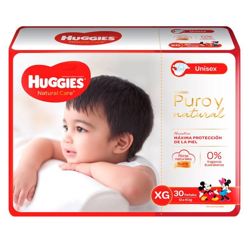 Huggies - PAÑAL HUG NATCARE  XG 5X30