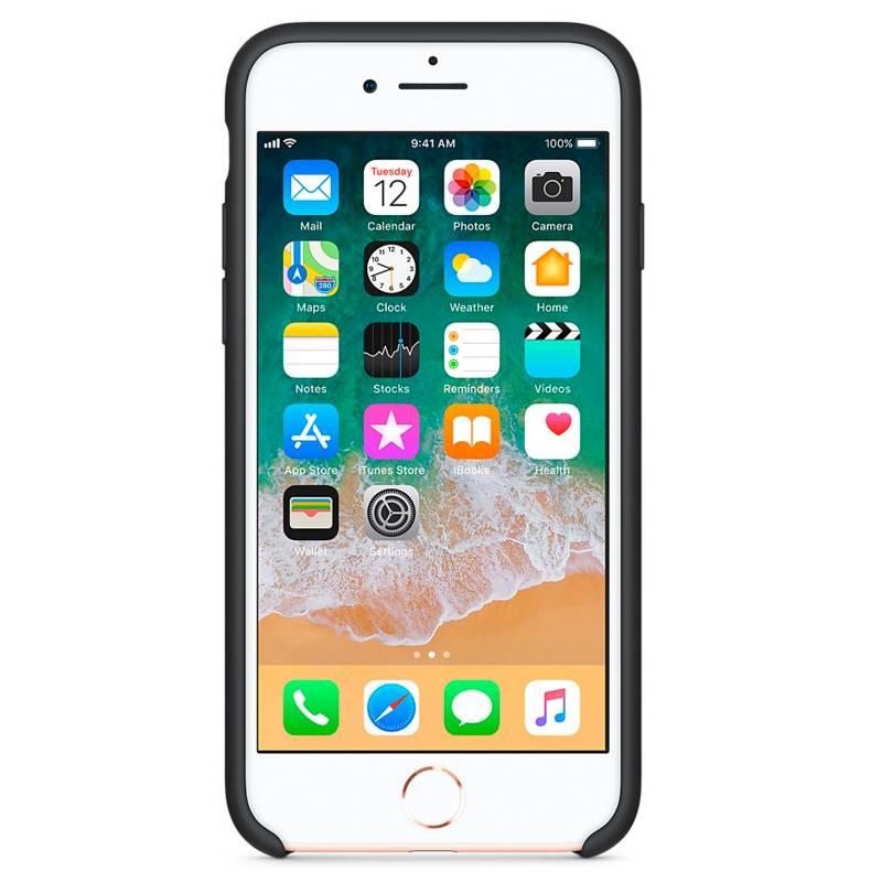 Apple - iPhone 7/8 Silicone Case Black
