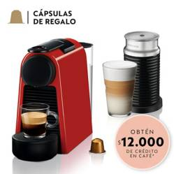Cafetera Essenza Mini Roja + Aeroccino