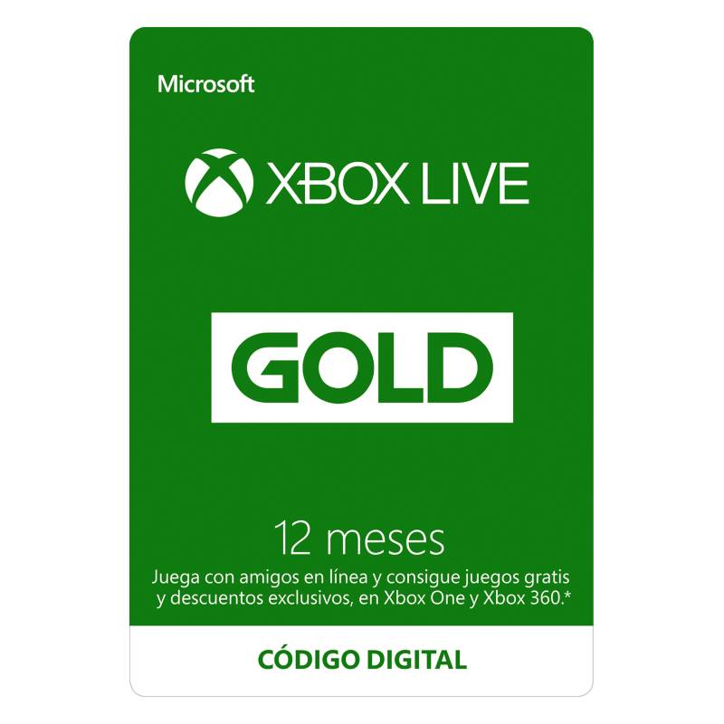 Microsoft - Xbox Live Gold 12 Meses: Descarga Digital