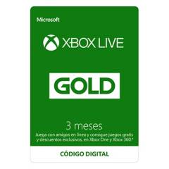 Microsoft - Xbox Live Gold 3 Meses: Descarga Digital
