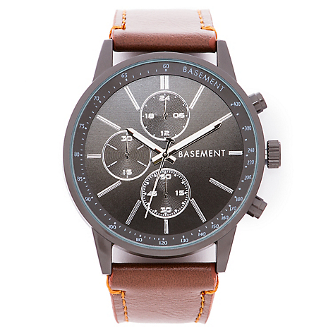 65ea48d06e3204 Basement Reloj Hombre Black/Brown - Falabella.com