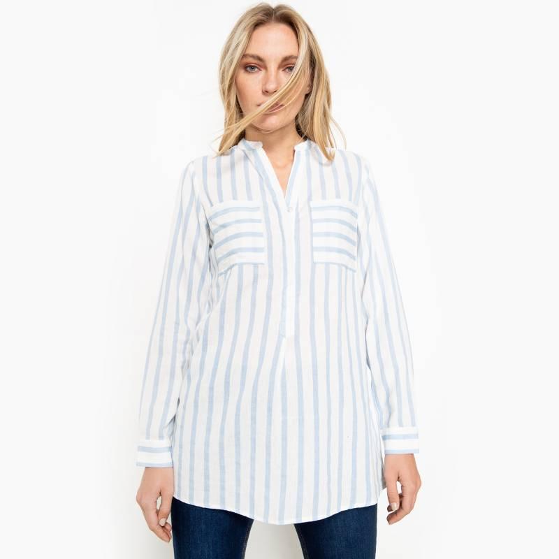 Vero Moda - Blusa Snow White Cerulean Stripe