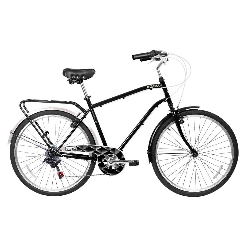 Gama - Bicicleta City Commuter Aro 26 Negra