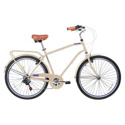 Bicicleta City Commuter Aro 26 Beige