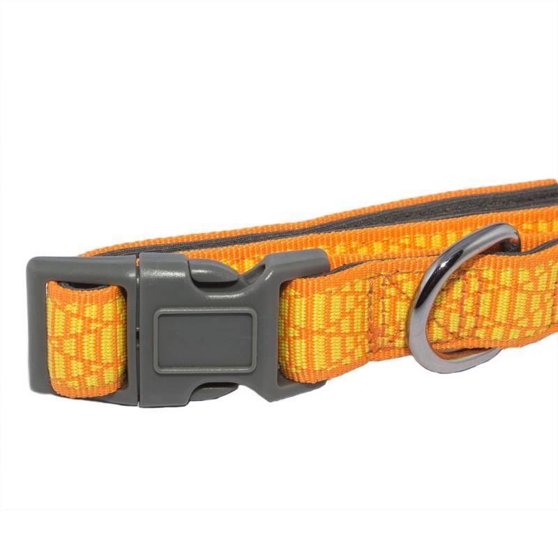 TODO PET.COM - Accesorio Collar Naranja Amarilla