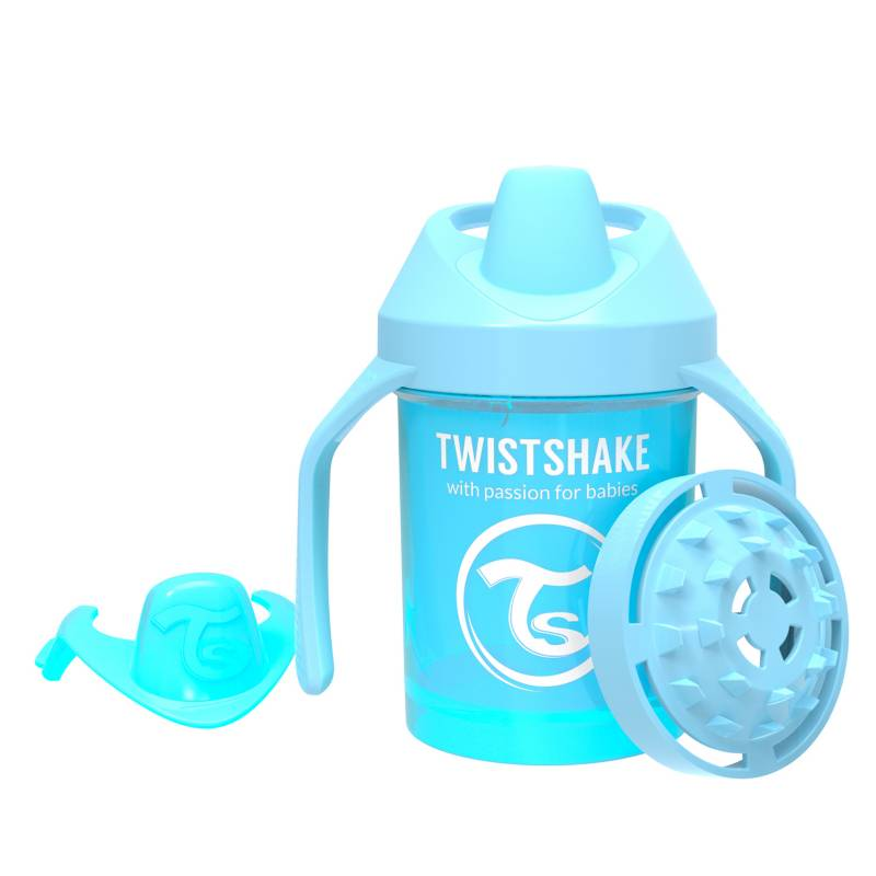 Twistshake - Vaso antiderrame 230 ml 4+m Azul Pastel