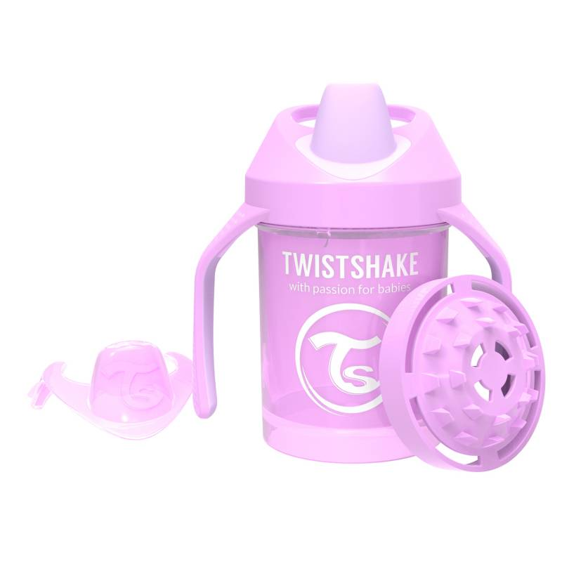 Twistshake - Vaso antiderrame 230 ml 4+m Morado Pastel