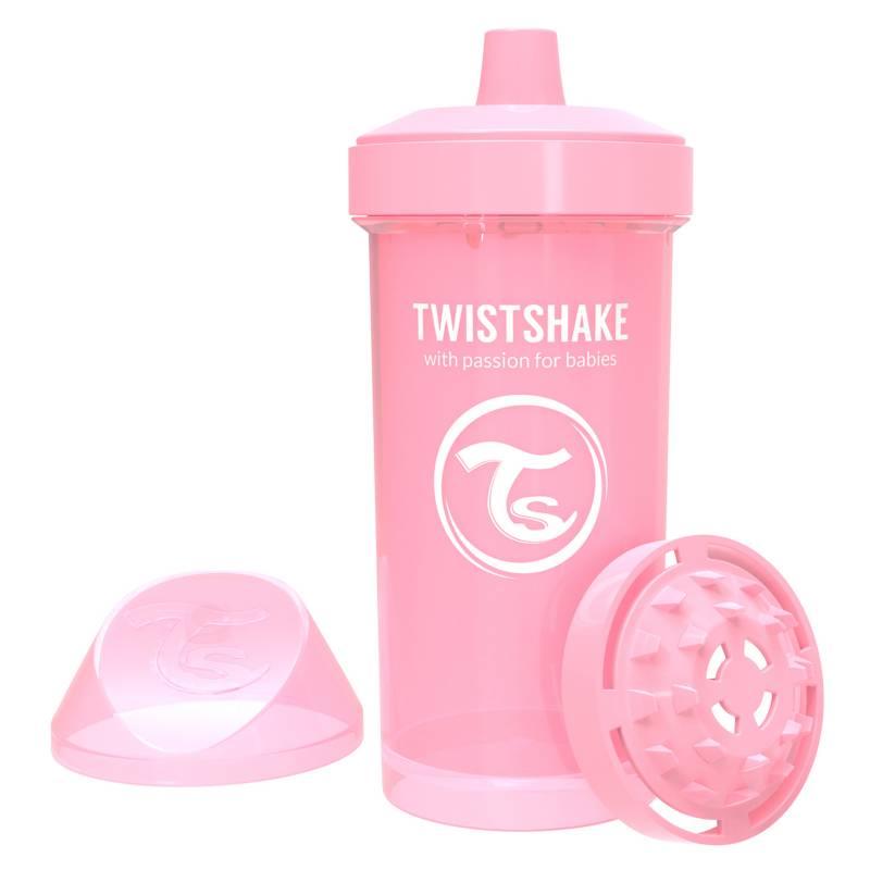 Twistshake - Vaso antiderrame 360 ml 12+m Rosado Pastel