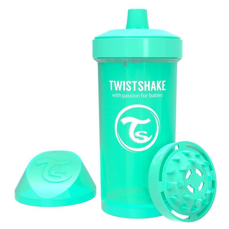 Twistshake - Vaso antiderrame 360 ml 12+m Verde Pastel