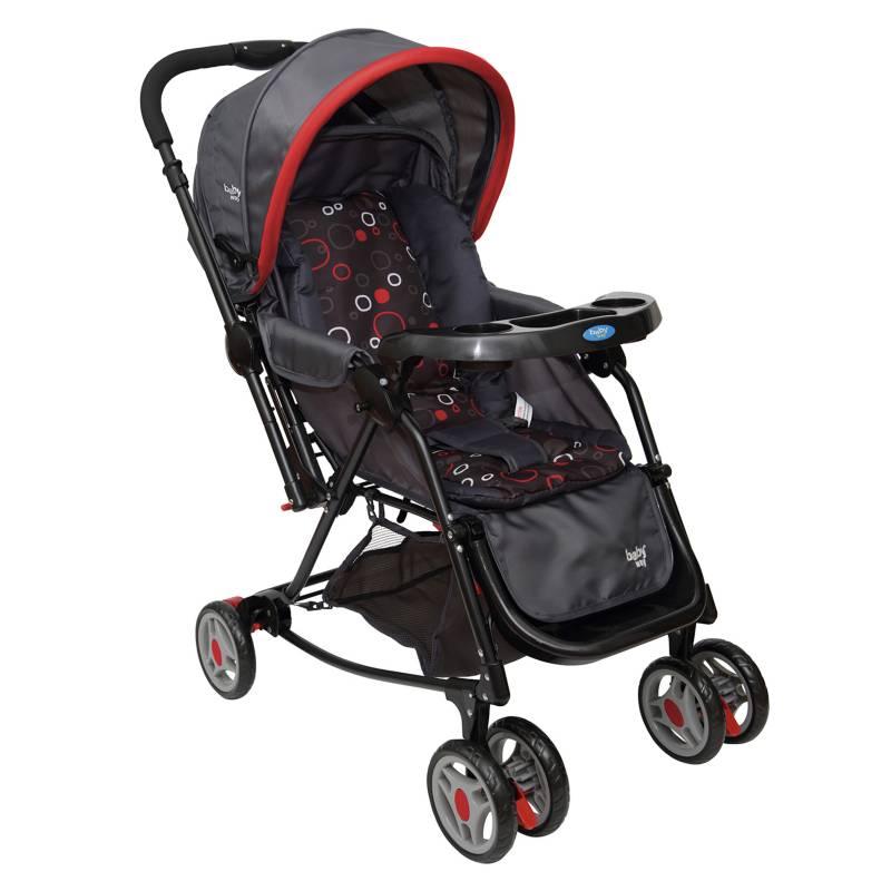 Baby Way - Coche Cuna Balancin Rojo Bw-309
