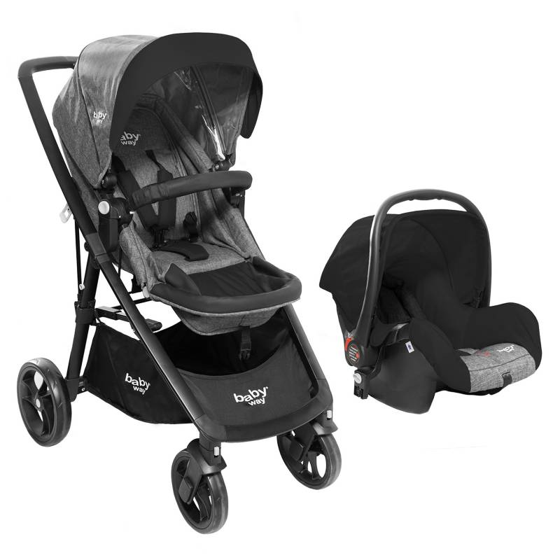 Baby Way - Coche Travel System Light BW-412G18 Travel