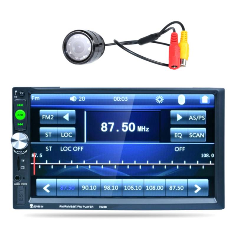 Generica - Radio De Auto Doble Din Mp5 + Camara De Retroseso