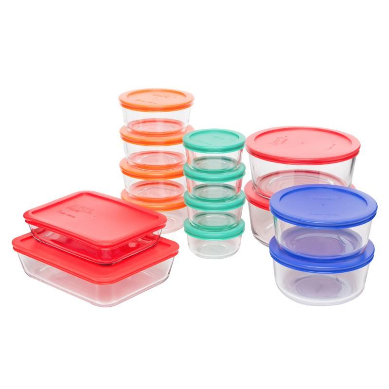 Pyrex - Set 28 piezas de Vidrio  Bake y Store