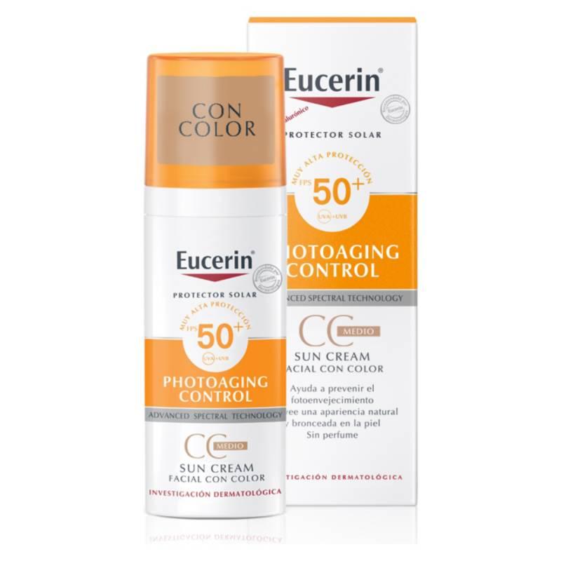 EUCERIN - Protección Solar Euc Sun Face Cc Creme Spf50+ 50Ml