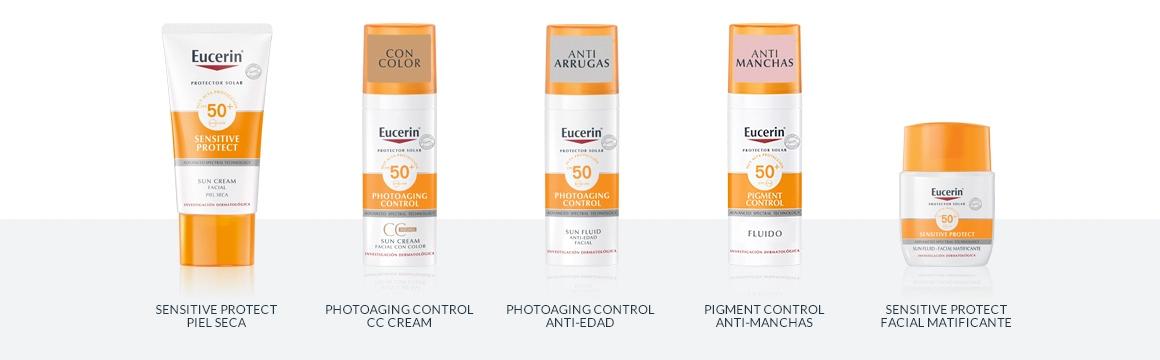 piel grasa, filtro, protector solar, rostro, cara, factor 50, Eucerin