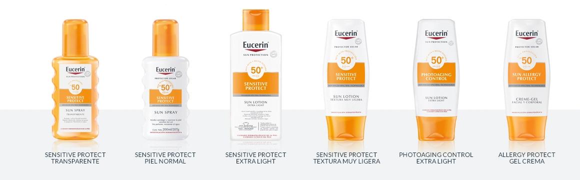 filtro, protector solar, cuerpo, corporal, factor 50, protector, toque seco, Eucerin