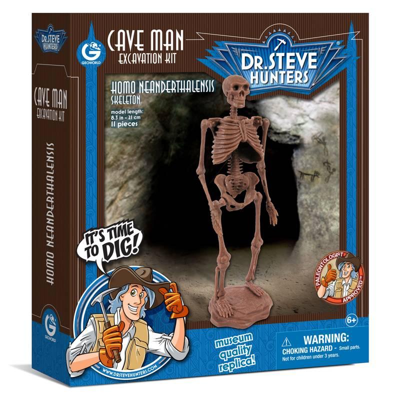 GEOWORLD - Cave Man Excavation Kit-Homo Neardenthalensis Geoworld