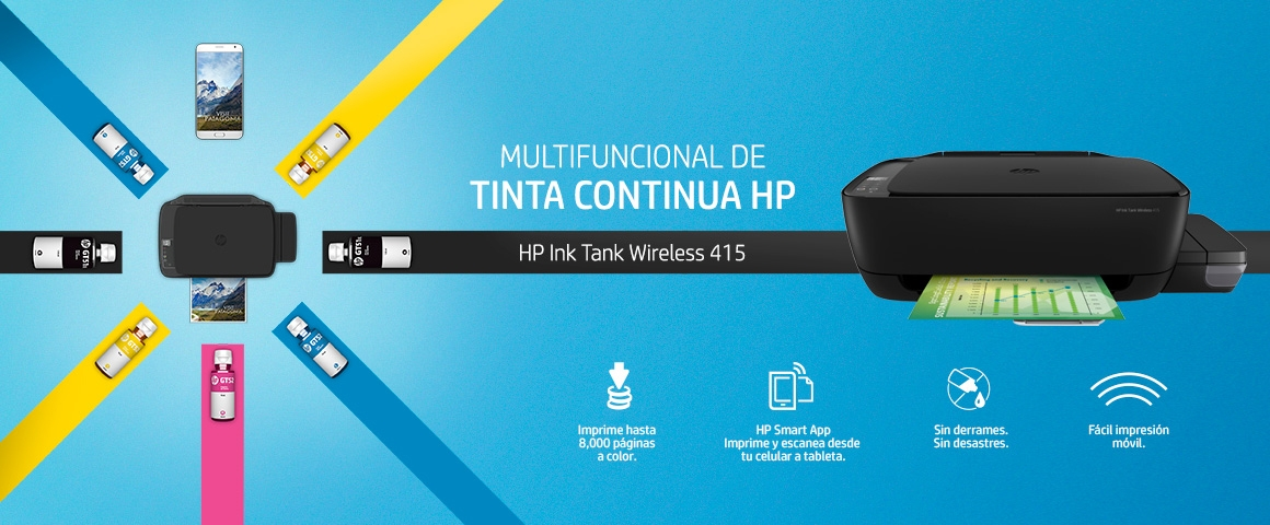 HP Impresora Multifuncional Ink Tank Wireless 415