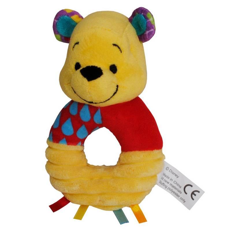 Baby Disney - Sonajero Plush Carita Winnie The Pooh
