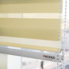 VINCENZI - Cortinas Roller Duo Día/noche Zebra 1.8x2.4 Beige