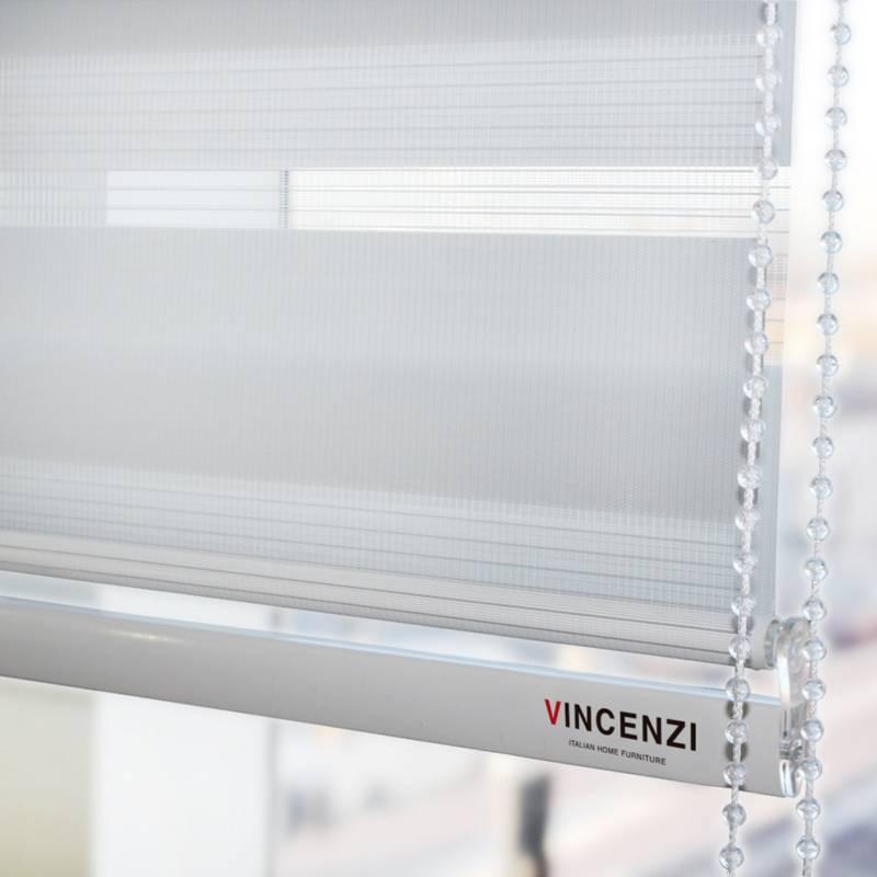 Vincenzi - Cortinas Roller Duo Día/noche Zebra 2.2x2.4m