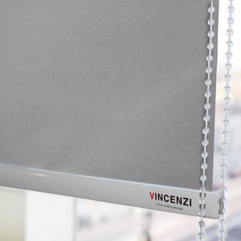 VINCENZI - Cortina Roller Blackout Térmico 1.6 X 2.3 Gris