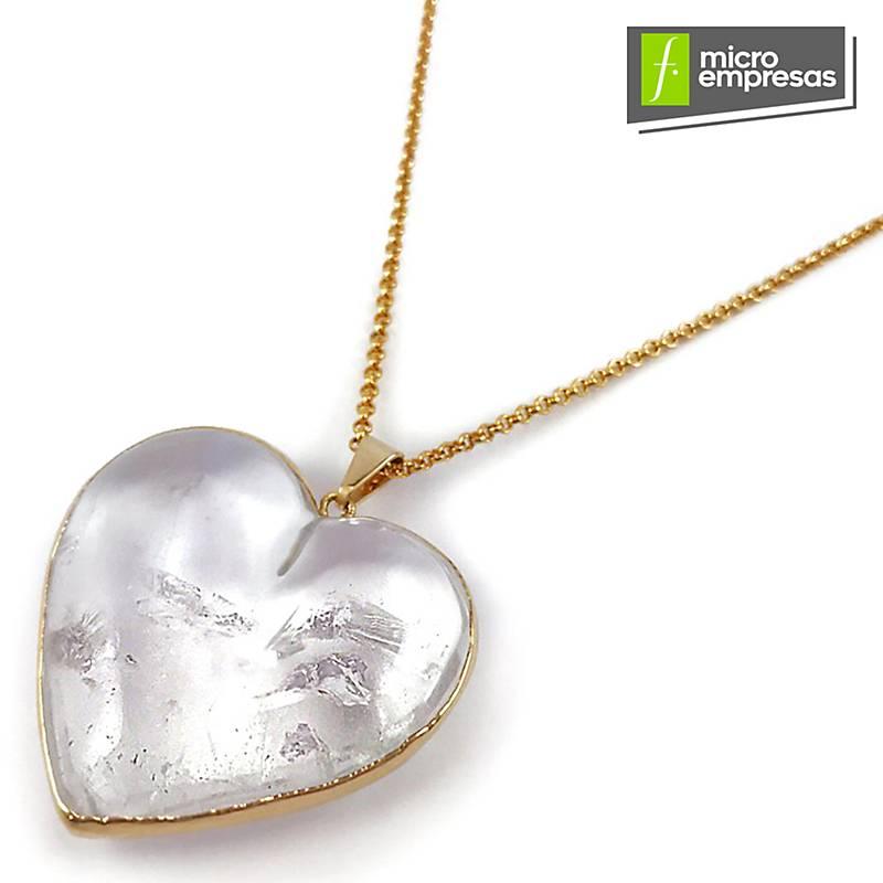 6ecaf0729539 Divina Musa Collar Corazón Xl Cuarzo Cristal - Falabella.com
