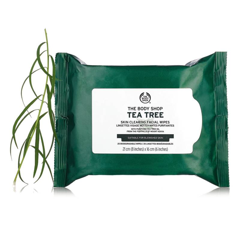The Body Shop - Toallitas Desmaquillantes Tea Tree Cleansing Wipes