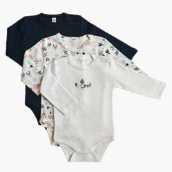 Yamp - Pack de 3 bodies algodón bebé niño