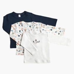 Yamp - Pack de 3 camisetas algodón bebé niño