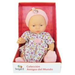 SEIGARD - Muñeca Bebé Niña 38 cm