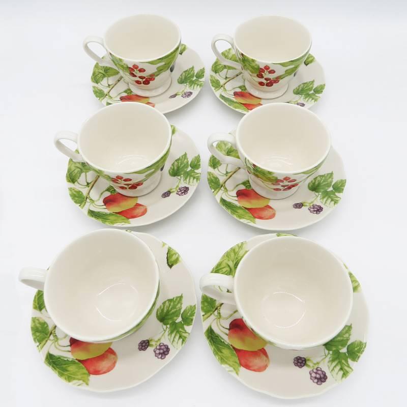 KLAPP - Juego de 6 tazas Fruta Botanica