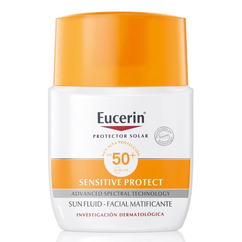 EUCERIN - Protector solar facial fluido matificante FPS50+ 50 ml
