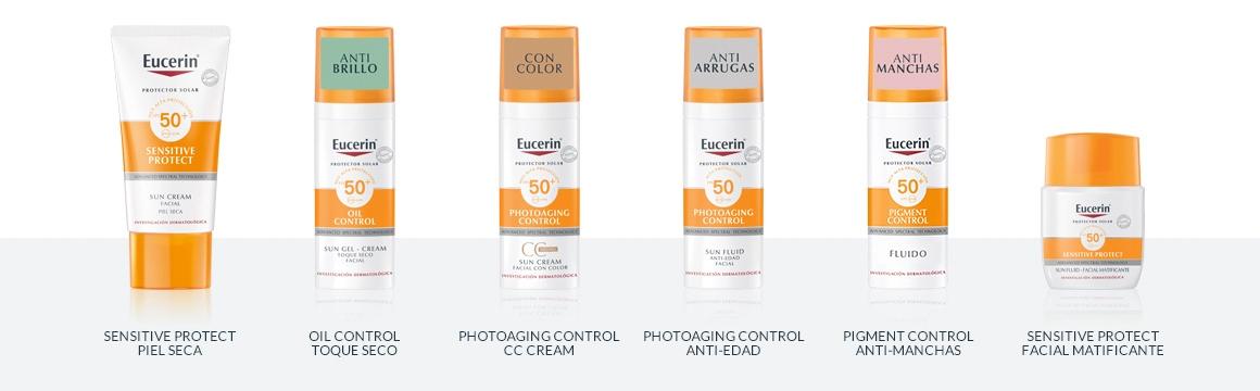 filtro, protector solar, cuerpo, corporal, factor 50, protector, ligera, ligero, textura ligera, Eucerin