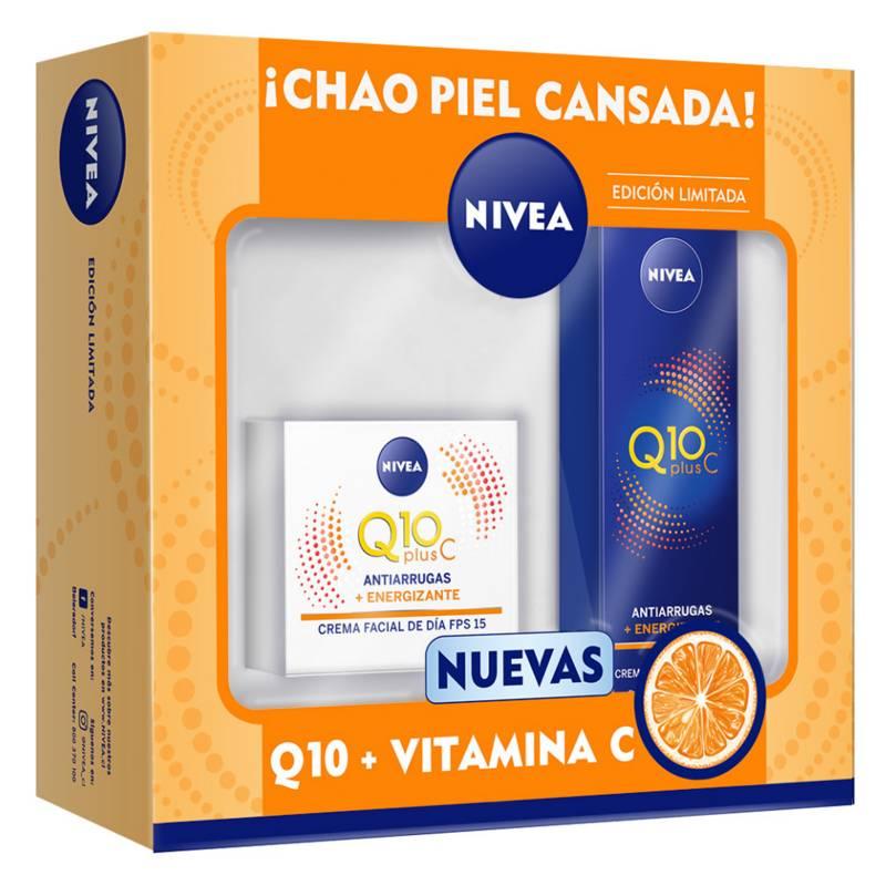 Nivea - Pack Nivea Rutina Facial Q10 + Vitamina C Día y Noche