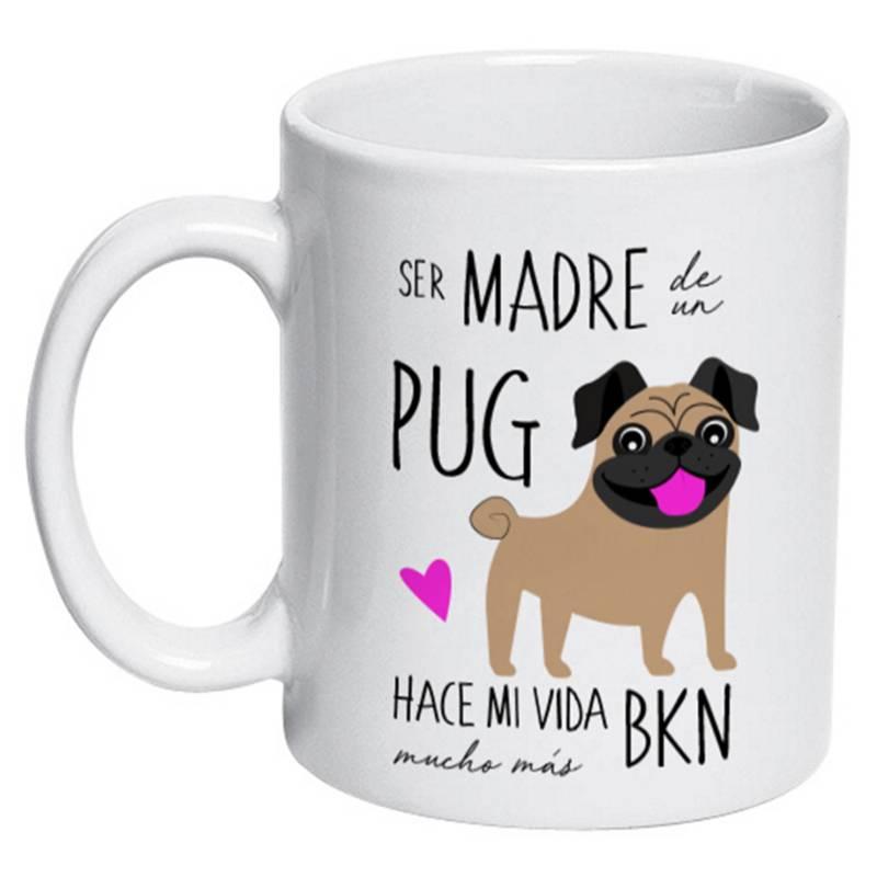 PETFY - Tazón Cerámico Pug Madre